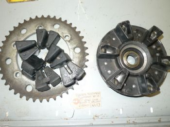 YAMAHA YZF1000 TUNDERACE  REAR SPROCKET CARRIER AND CUSH DRIVE #1  (67-B)